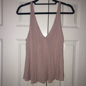 Dusty Rose Deep V Tank